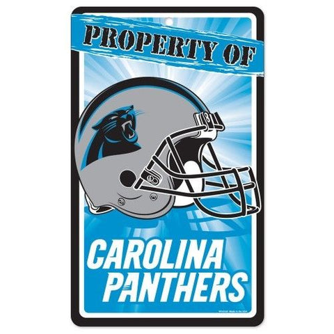 Carolina Panthers Bar and Home Decor Property of Sign