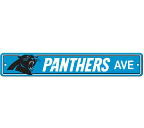 Carolina Panthers AVE Bar Home Decor Plastic Street Sign