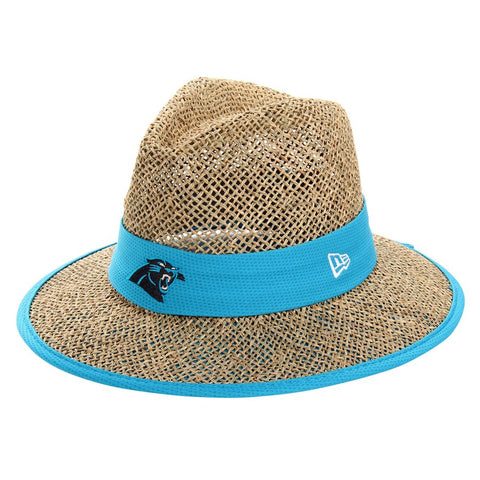 Carolina Panthers New Era Natural On-Field Training Camp Straw Hat