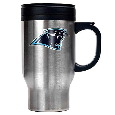 Carolina Panthers 16oz Stainless Steel Logo Tumbler Travel Mug Cup