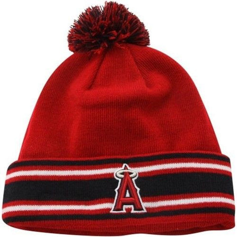 Anaheim Angels New Era Sport Knit On Field Embroidered Pom Beanie Fold Cap