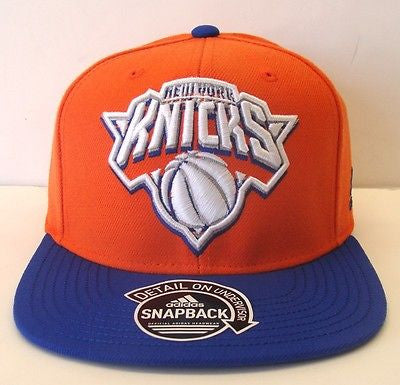 New York Knicks Snapback Adidas Ghost Underbill Cap Hat Orange Blue
