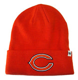 Chicago Bears Beanie 47 Brand Knit Fold Orange