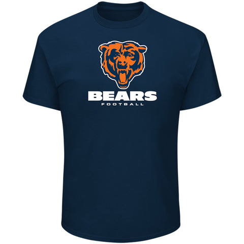 Chicago Bears Mens T-Shirt Majestic Critical Victory Navy