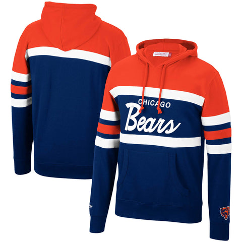 Chicago Bears Mens Mitchell & Ness Head Coach Sweatshirt Pullover Hoodie