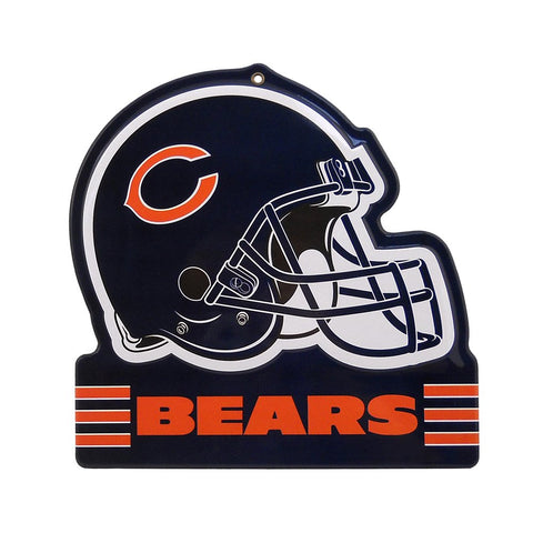 "Chicago Bears Embossed Metal Helmet Sign, 8"" x 8"""