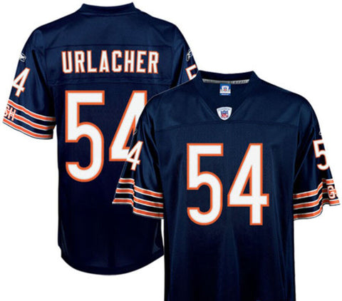 Chicago Bears Mens Jersey Reebok Throwback Brian Urlacher Replica Navy