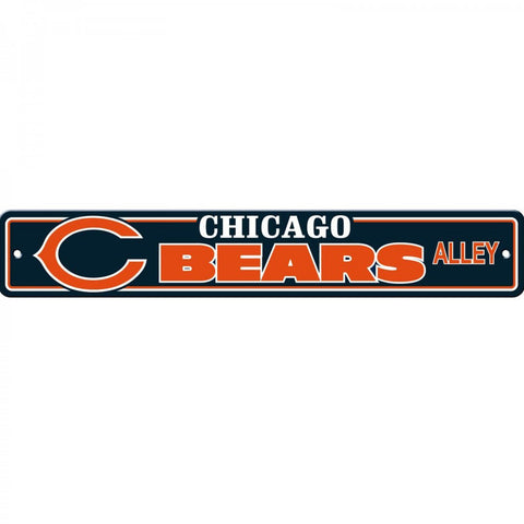 Chicago Bears ALLEY Bar Home Decor Plastic Street Sign