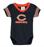 Chicago Bears Infant (3-6 Months) Dazzle Bodysuit Navy