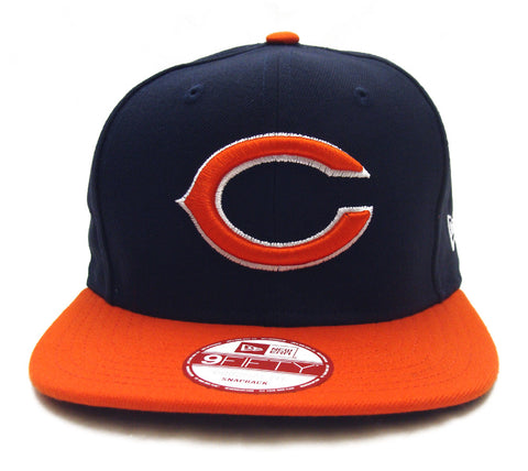 info for bf071 f8ad8 Chicago Bears Snapback New Era Original Fit Logo Cap Hat Navy Orange