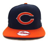 Chicago Bears Snapback New Era Original Fit Logo Cap Hat Navy Orange