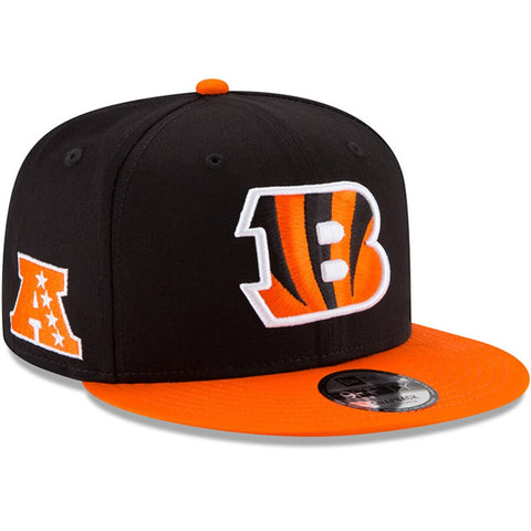 Cincinnati Bengals Snapback 9Fifty Baycik Black Orange Hat Cap Med/Lrg