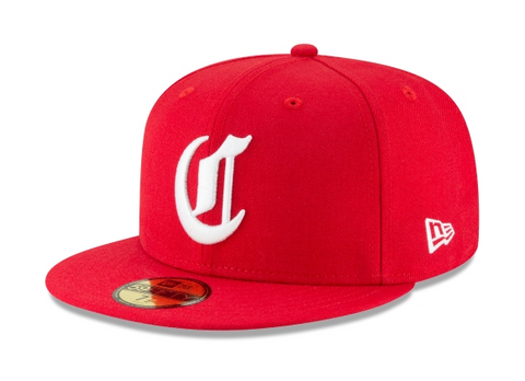 Cincinnati Reds Fitted New Era 59FIFTY Cooperstown Wool Red Cap Hat