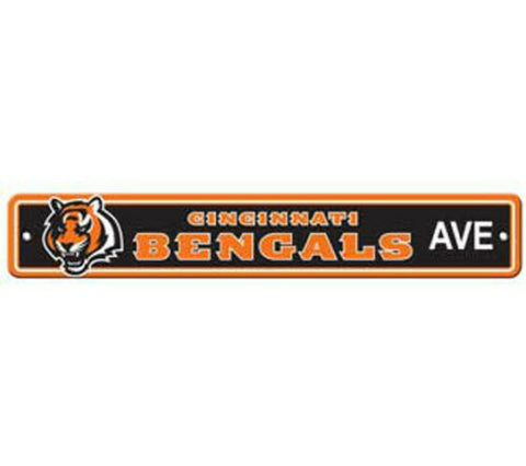 Cincinnati Bengals AVE Bar Home Decor Plastic Street Sign
