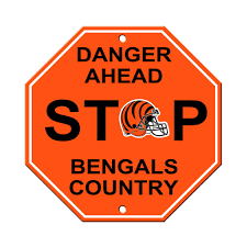 Cincinnati Bengals Bar Home Decor Plastic Stop Sign
