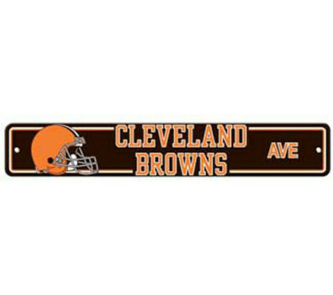 Cleveland Browns AVE Bar Home Decor Plastic Street Sign