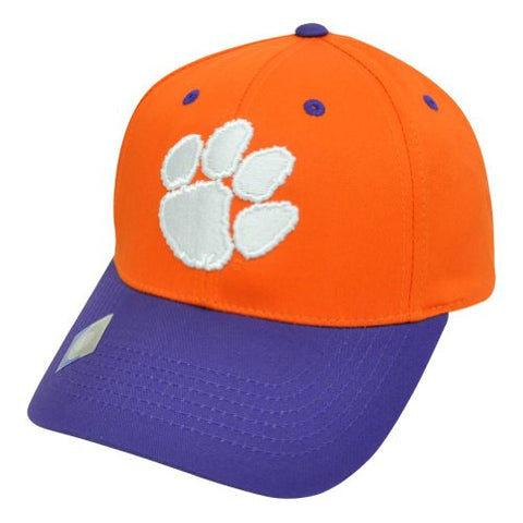 Clemson Tigers Snapback Logo Retro Cap Hat 2 Tone Orange Purple