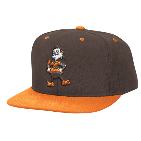 Cleveland Brown Snapback Mitchell & Ness Logo Cap