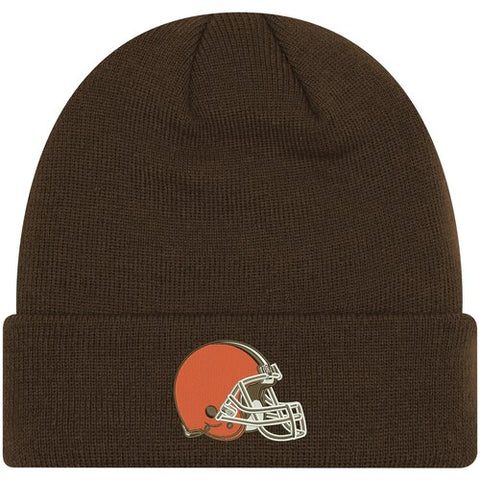 Cleveland Browns Beanie New Era Basic Logo Cuffed Brown Knit Hat