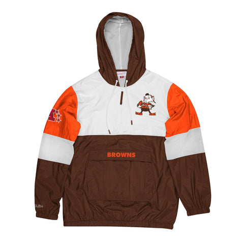 Cleveland Browns Mens Mitchell & Ness Surprise Win Windbreaker Jacket