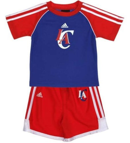 Los Angeles Clippers Toddler Adidas 2pc T & Shorts Set