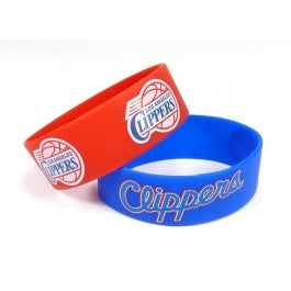 Los Angeles Clippers Bulk Bandz Wide Bracelet 2 Pack