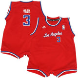 Los Angeles Clippers Infant 12-24 Adidas Chris Paul #3 Replica Jersey Romper Red