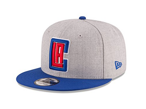 Los Angeles Clippers Snapback New Era 9Fifty Logo Cap Hat Wool Heather Blue