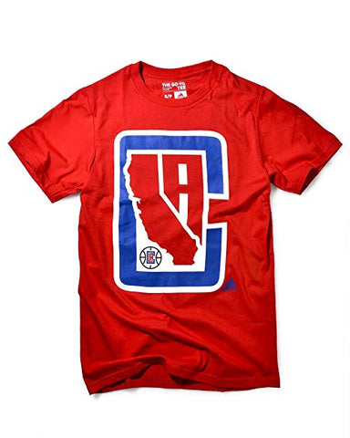 Los Angeles Clippers Mens T-Shirt Adidas State Logo Red
