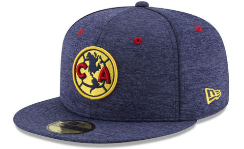Club America Fitted New Era 59Fifty Shadow Blue Cap Hat
