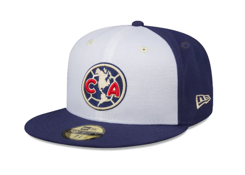 Club America Fitted New Era 59Fifty Tri Blue Cap Hat