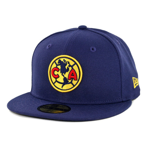 Club America Fitted New Era 59Fifty Navy Blue Cap Hat