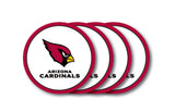 Arizona Cardinals 4 Piece Vinyl Coasters Set Set