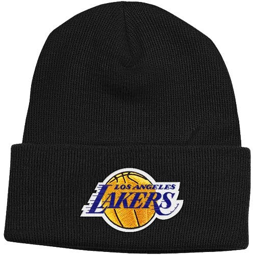 Los Angeles Lakers Beanie Adidas Cuffed Knit Hat Black – THE 4TH QUARTER 7c3865cbf3a