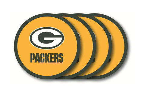Green Bay Packers 4 Piece Vinyl Coasters Set