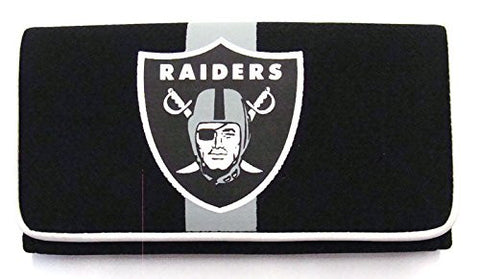 Oakland Raiders Ladies Mesh Trifold Organizer Clutch Wallet