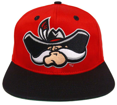 UNLV Runnin Rebels Snapback Retro 2 Tone Logo Cap Hat Red Black