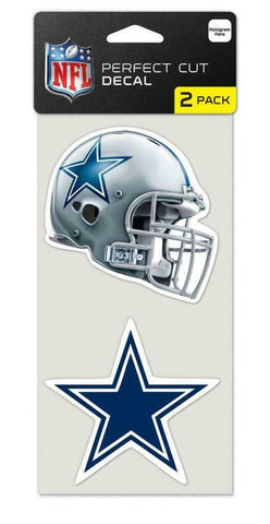 Dallas Cowboys 4x4 Perfect Cut Decal 2 Pack