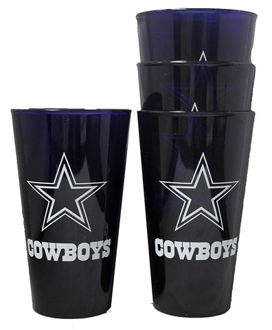 Dallas Cowboys 16oz Plastic Pint Glass Set