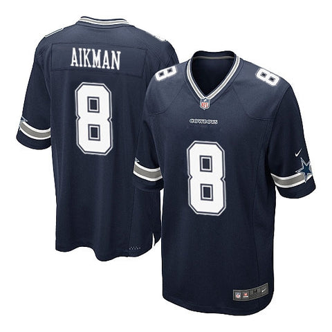 Dallas Cowboys Mens Jersey Nike Replica Aikman #8 Navy