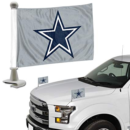 Dallas Cowboys Auto Ambassador Flag Set