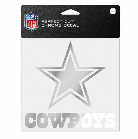 "Dallas Cowboys Chrome Prefect Cut Decal 6"" X 6"""