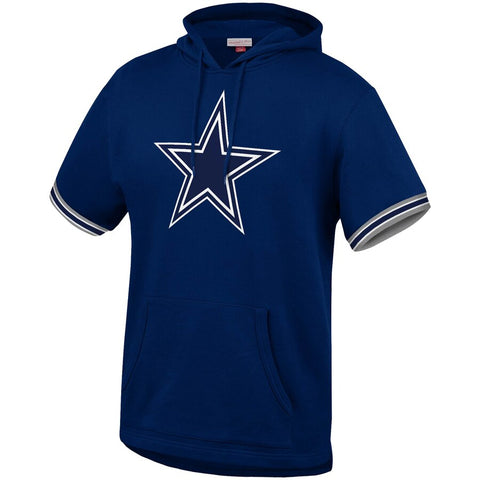 Dallas Cowboys Mens Sweatshirt Mitchell & Ness French Terry Hooded Short Sleeve