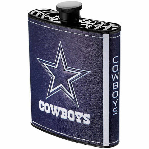 Dallas Cowboys 7oz. Logo Wrapped Plastic Hip Flask