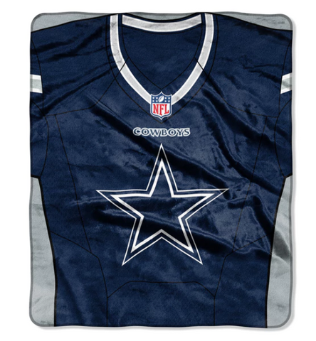 "Dallas Cowboys 50"" x 60"" Plush Jersey Blanket"