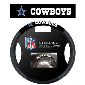 Dallas Cowboys Black Poly-suede & Mesh Steering Wheel Cover