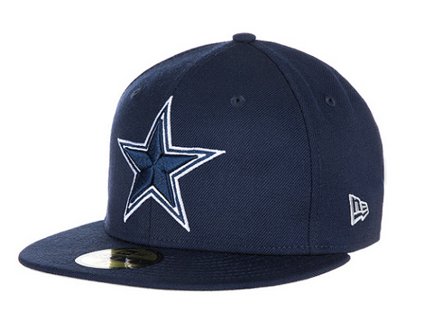 Dallas Cowboys Fitted New Era 59Fifty Classic On-Field Cap Hat Navy