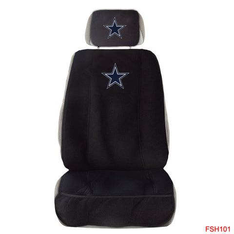 Dallas Cowboys Front Seat Cover W/ Head Rest Cover Universal