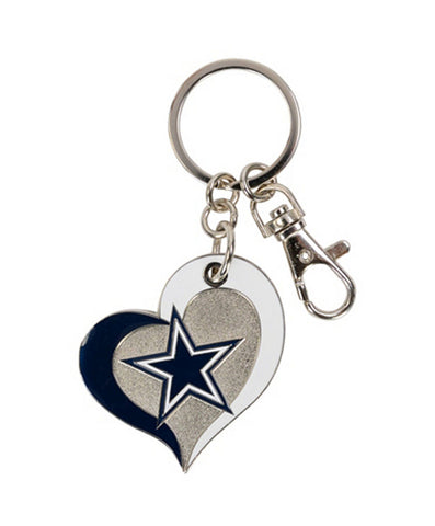 Dallas Cowboys Keychain Swirl Heart