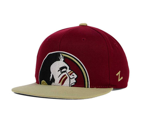 Florida State Seminoles Snapback Zephyr Youth Peek Cap Hat Burgundy Gold